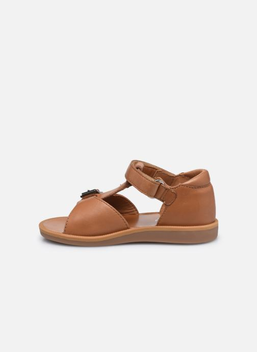 Sandali e scarpe aperte Pom d Api Poppy Easy Marrone immagine frontale