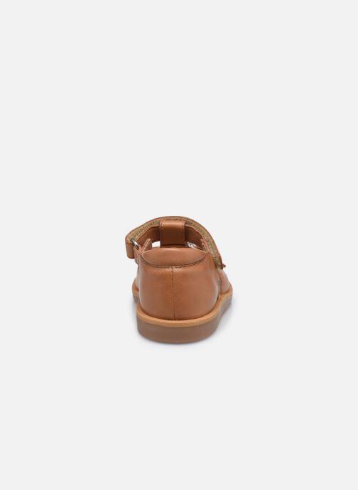Sandali e scarpe aperte Pom d Api Poppy Easy Marrone immagine destra