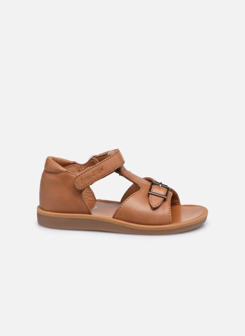 Sandali e scarpe aperte Pom d Api Poppy Easy Marrone immagine posteriore