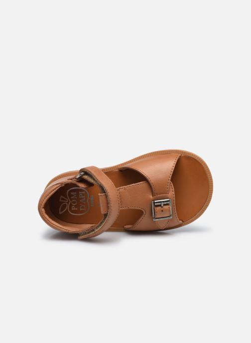 Sandali e scarpe aperte Pom d Api Poppy Easy Marrone immagine sinistra