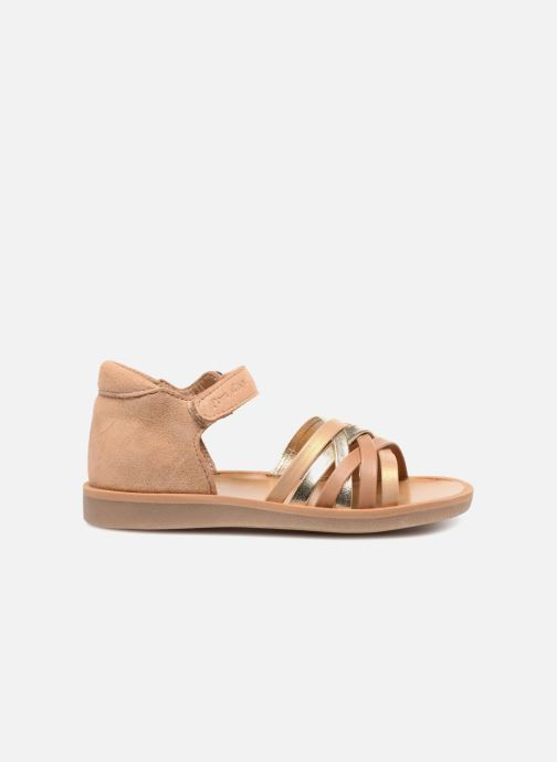 Sandals Pom d Api Poppy Lux Brown back view