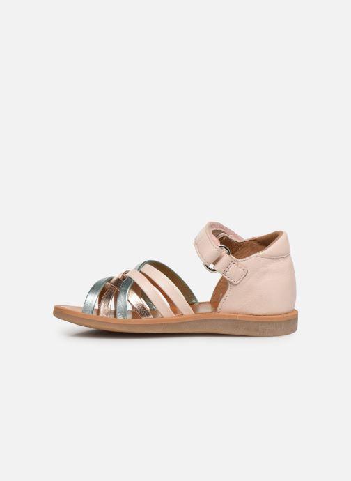 Sandales et nu-pieds Pom d Api Poppy Lux Rose vue face