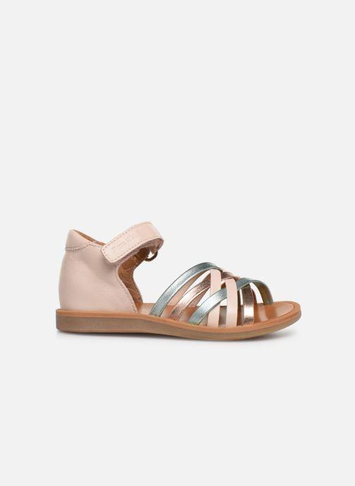 Sandales et nu-pieds Pom d Api Poppy Lux Rose vue derrière