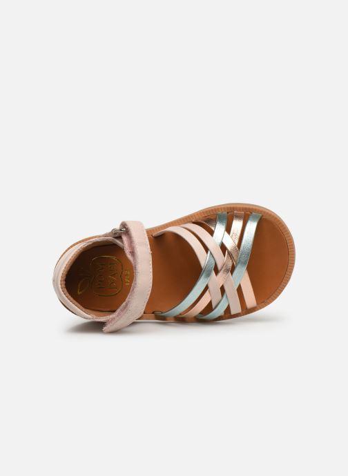 Sandales et nu-pieds Pom d Api Poppy Lux Rose vue gauche