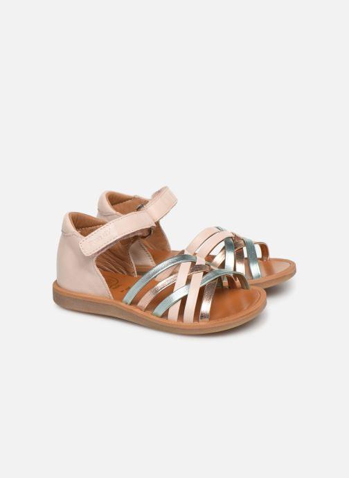 Sandales et nu-pieds Pom d Api Poppy Lux Rose vue détail/paire