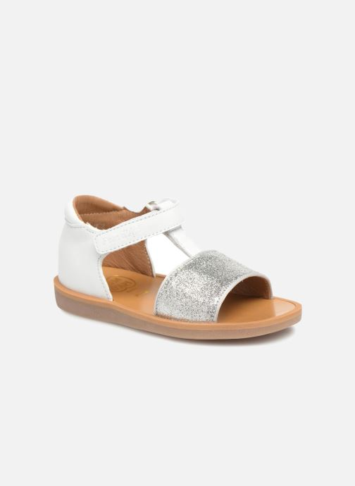 Sandals Pom d Api Poppy Tao Easy White detailed view/ Pair view