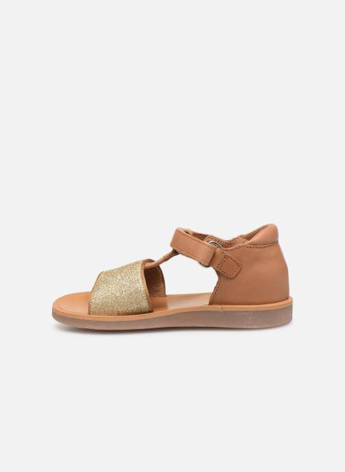Sandales et nu-pieds Pom d Api Poppy Tao Easy Beige vue face