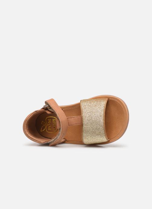 Sandales et nu-pieds Pom d Api Poppy Tao Easy Beige vue gauche