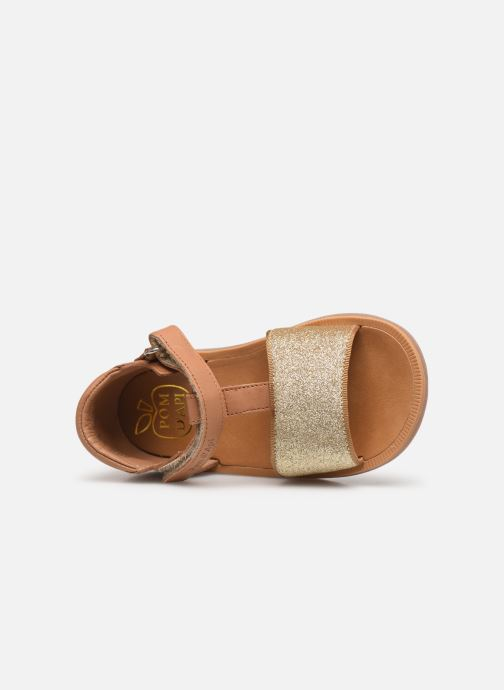 Sandalen Pom d Api Poppy Tao Easy beige ansicht von links