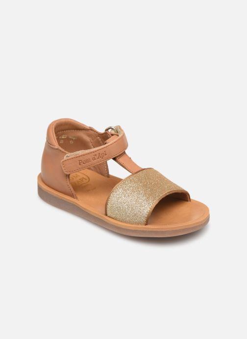 Sandales et nu-pieds Pom d Api Poppy Tao Easy Beige vue détail/paire