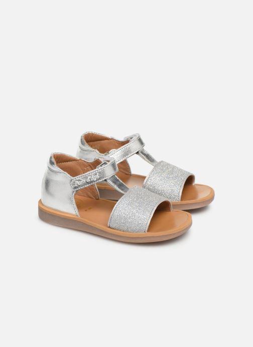 Sandales et nu-pieds Pom d Api Poppy Tao Easy Argent vue 3/4