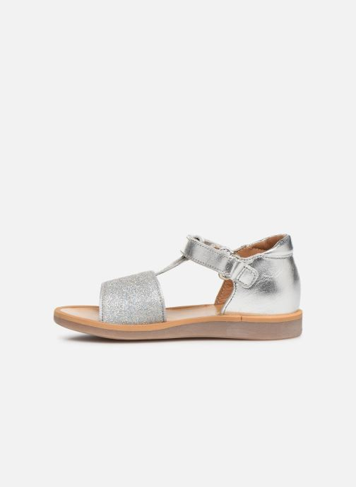 Sandales et nu-pieds Pom d Api Poppy Tao Easy Argent vue face