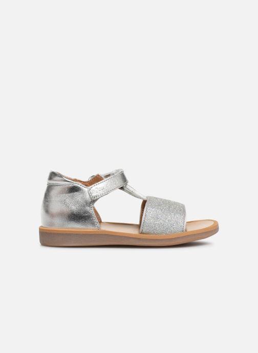 Sandales et nu-pieds Pom d Api Poppy Tao Easy Argent vue derrière
