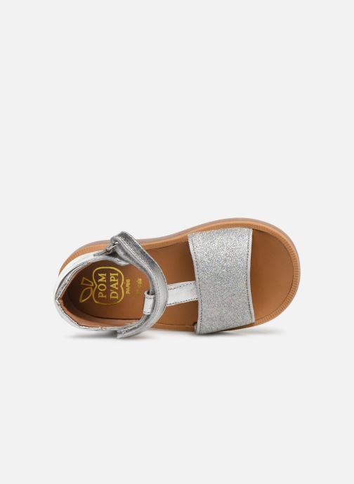 Sandales et nu-pieds Pom d Api Poppy Tao Easy Argent vue gauche