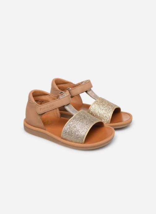 Sandales et nu-pieds Pom d Api Poppy Tao Easy Or et bronze vue 3/4