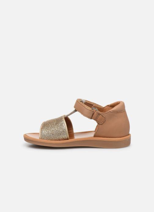 Sandales et nu-pieds Pom d Api Poppy Tao Easy Or et bronze vue face