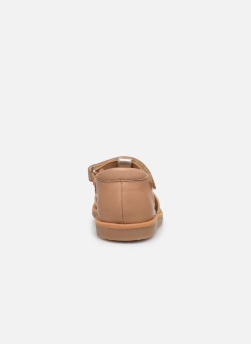 Sandales et nu-pieds Pom d Api Poppy Tao Easy Or et bronze vue droite
