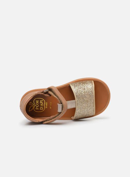 Sandalias Pom d Api Poppy Tao Easy Oro y bronce vista lateral izquierda