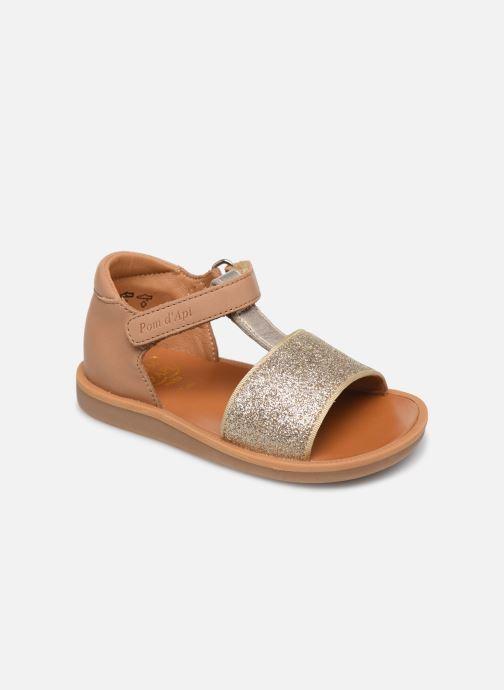 Sandales et nu-pieds Pom d Api Poppy Tao Easy Or et bronze vue détail/paire