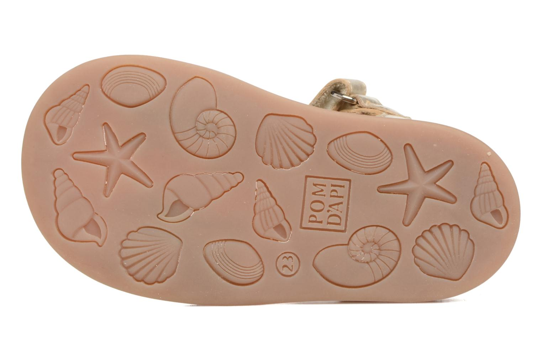 Sandales et nu-pieds Pom d Api Poppy Tao Easy Or et bronze vue haut