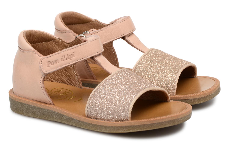 Sandales et nu-pieds Pom d Api Poppy Tao Easy Rose vue 3/4