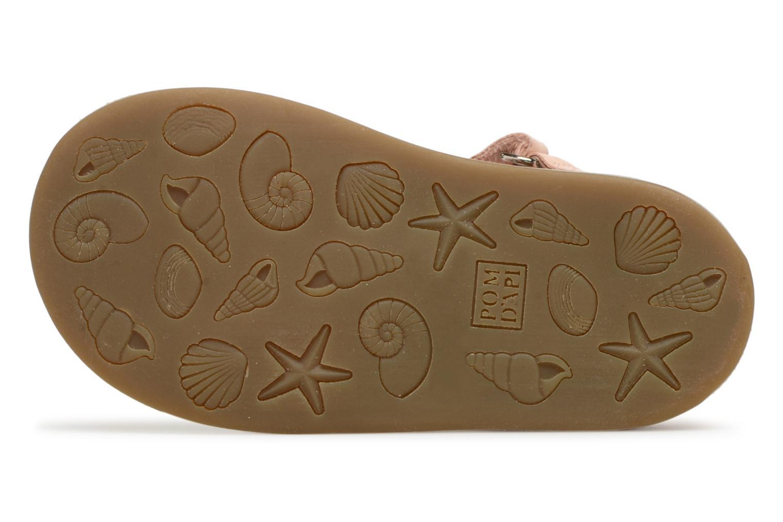 Sandales et nu-pieds Pom d Api Poppy Tao Easy Rose vue haut