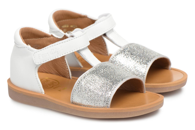 Sandales et nu-pieds Pom d Api Poppy Tao Easy Blanc vue 3/4