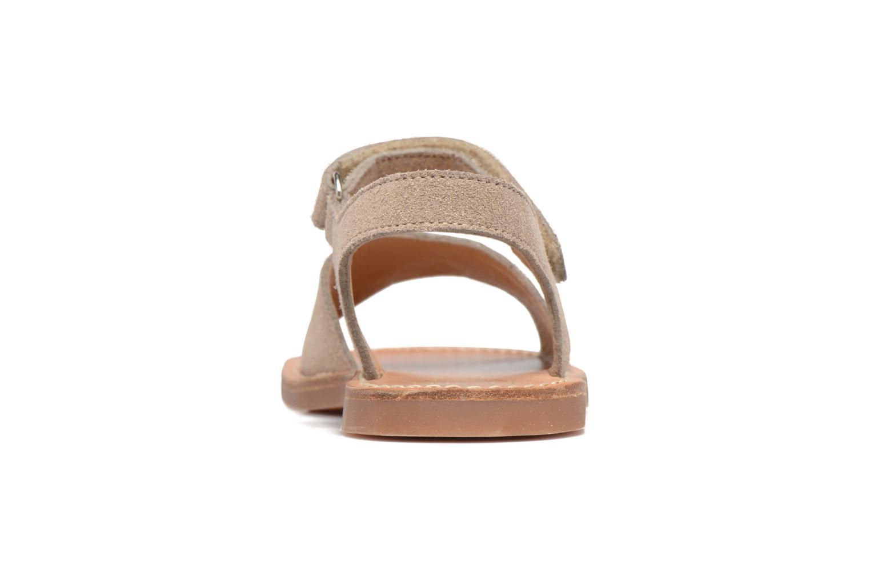 Sandales et nu-pieds Pom d Api Plage Stitch Easy Or et bronze vue droite