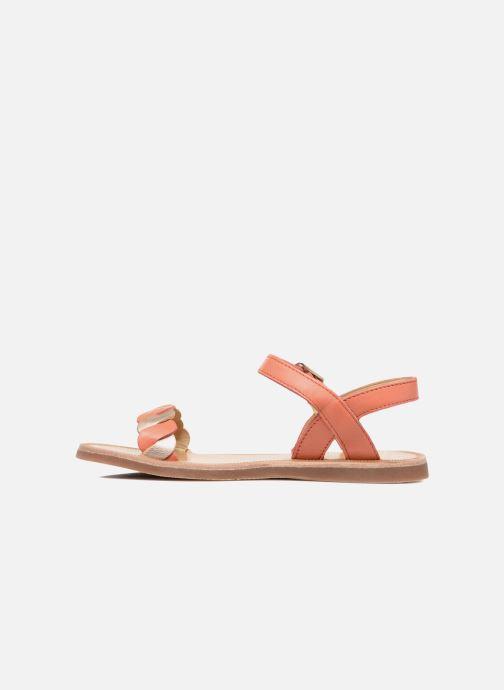 Sandalen Pom d Api Plagette Twist orange ansicht von vorne