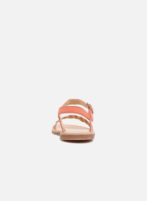 Sandalen Pom d Api Plagette Twist orange ansicht von rechts