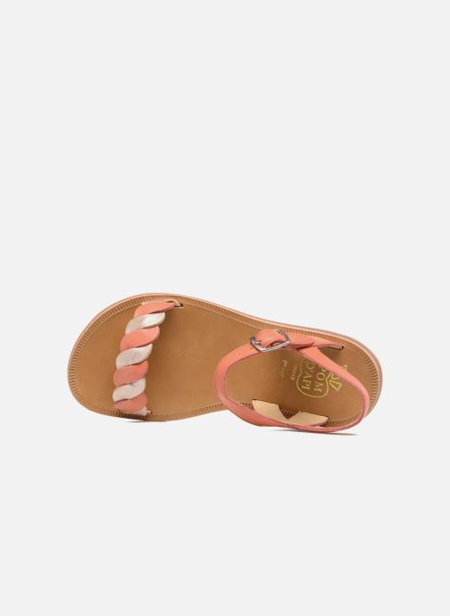 Sandalen Pom d Api Plagette Twist orange ansicht von links