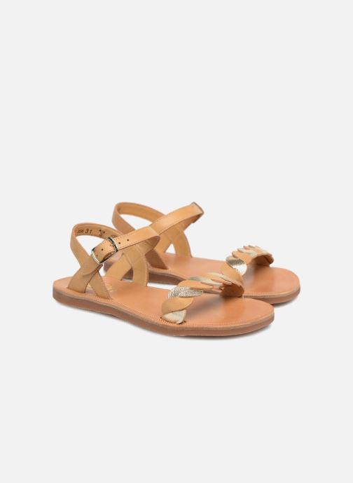 Sandals Pom d Api Plagette Twist Brown 3/4 view