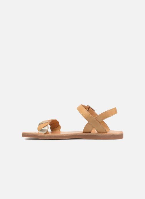 Sandals Pom d Api Plagette Twist Brown front view