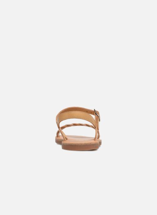 Sandales et nu-pieds Pom d Api Plagette Twist Marron vue droite