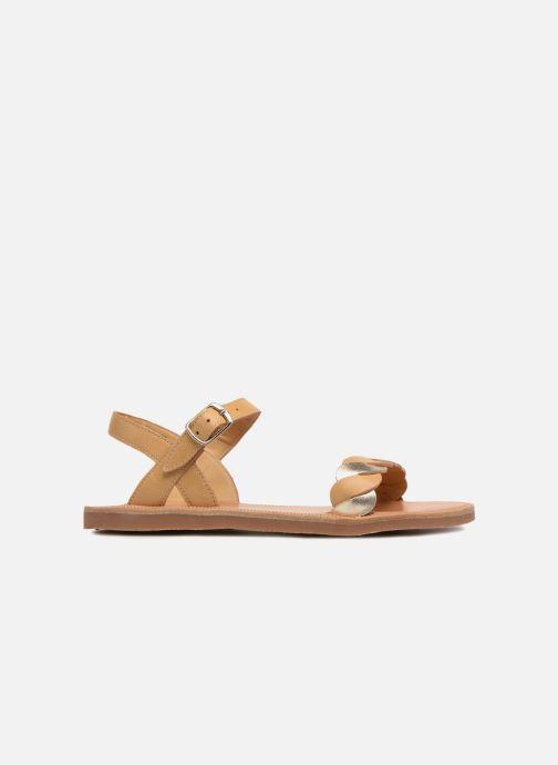 Sandales et nu-pieds Pom d Api Plagette Twist Marron vue derrière