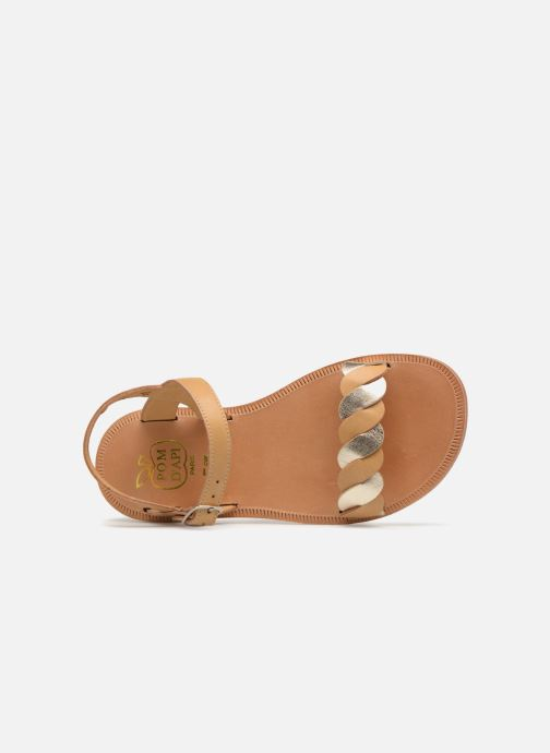 Sandals Pom d Api Plagette Twist Brown view from the left