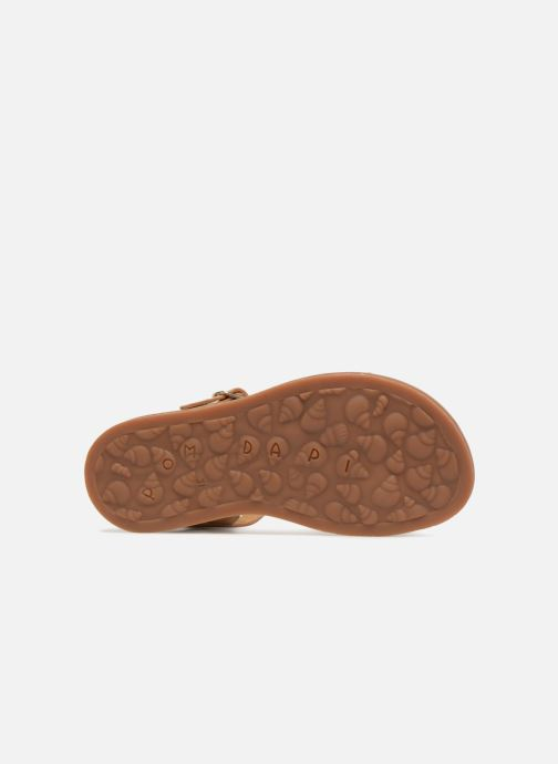 Sandals Pom d Api Plagette Twist Brown view from above