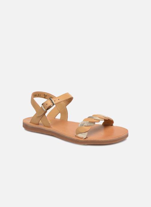 Sandales et nu-pieds Pom d Api Plagette Twist Marron vue détail/paire