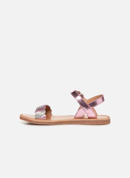 Sandales et nu-pieds Pom d Api Plagette Twist Argent vue face