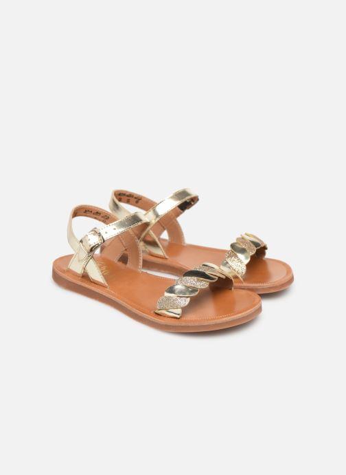 Sandales et nu-pieds Pom d Api Plagette Twist Or et bronze vue 3/4