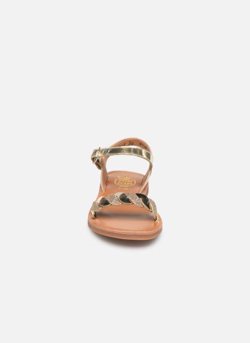 Sandales et nu-pieds Pom d Api Plagette Twist Or et bronze vue portées chaussures