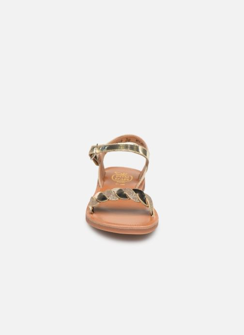 Sandalen Pom d Api Plagette Twist gold/bronze schuhe getragen