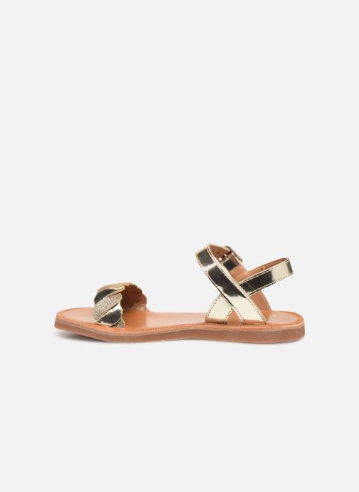 Sandalias Pom d Api Plagette Twist Oro y bronce vista de frente