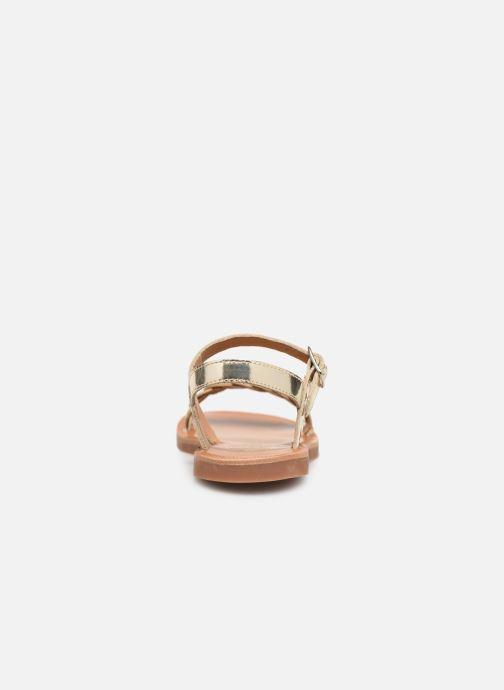 Sandalias Pom d Api Plagette Twist Oro y bronce vista lateral derecha