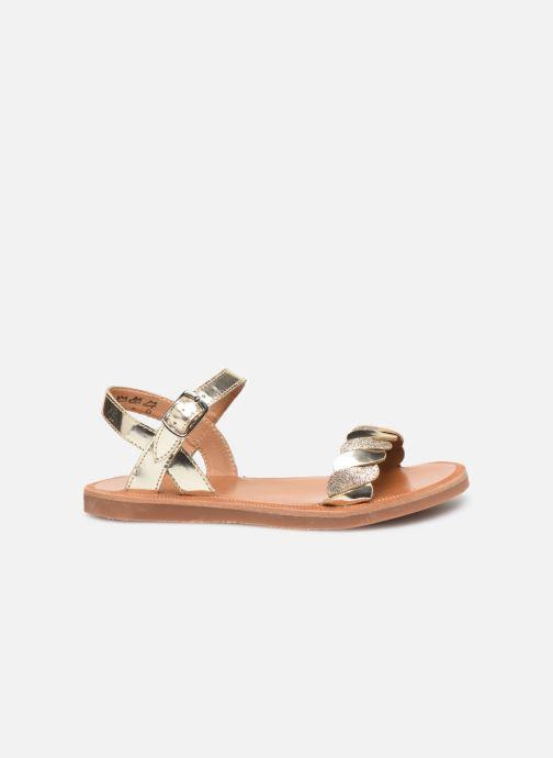Sandales et nu-pieds Pom d Api Plagette Twist Or et bronze vue derrière
