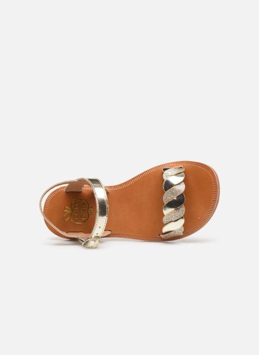 Sandalias Pom d Api Plagette Twist Oro y bronce vista lateral izquierda
