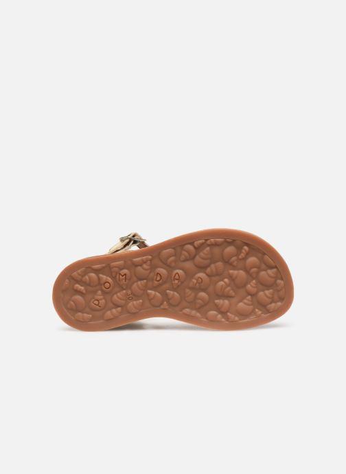 Sandales et nu-pieds Pom d Api Plagette Twist Or et bronze vue haut