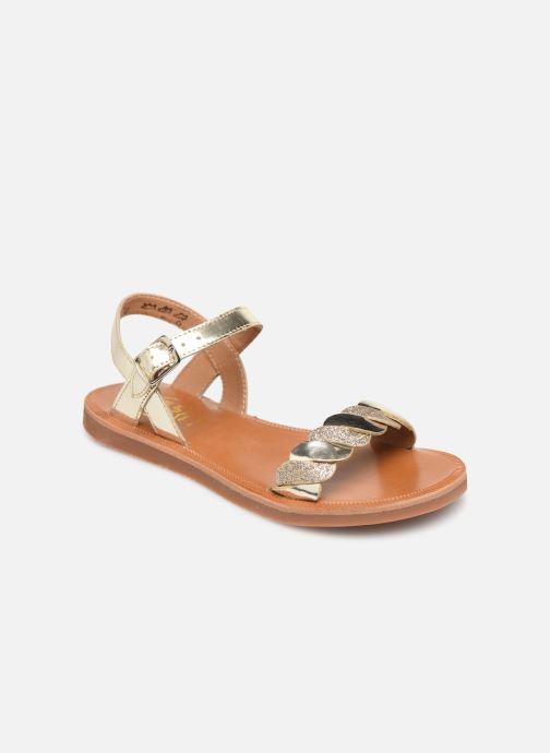 e92722c52e2dc9 Sandals Pom d Api Plagette Twist Bronze and Gold detailed view/ Pair view