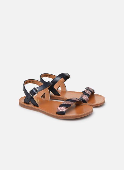 Sandales et nu-pieds Pom d Api Plagette Twist Bleu vue 3/4