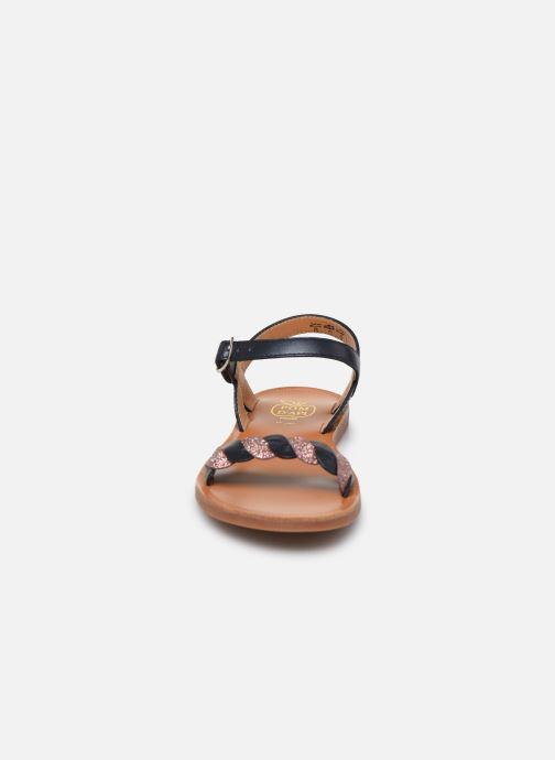 Sandales et nu-pieds Pom d Api Plagette Twist Bleu vue portées chaussures